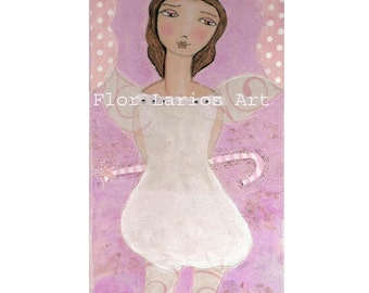 Sugarplum Fairy -  Print from Painting by FLOR LARIOS (5 x 10 INCHES)