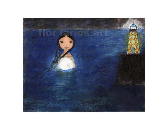Moonlight -  Print from Original Painting by FLOR LARIOS (6 x 8 INCHES)