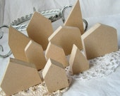 Wood mini Houses set of 3