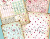 CHIC BACKGROUNDS Collage Digital Images -printable download  file-