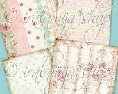 SHABBY BACKGROUNDS Collage Digital Images -printable download file-