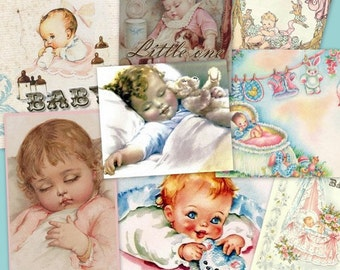 LITTLE ONE collage Digital Images  -printable download  file-