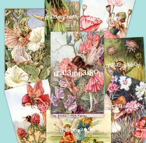 FAIRIES Collage Digital Images -printable download file-