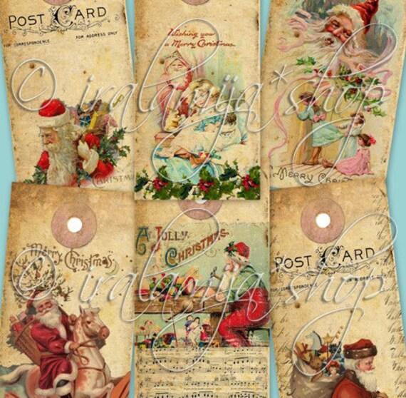 JOY TAGS collage Digital Images  -printable download  file-