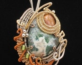 Ambrosia - wire wrapped pendant by OM