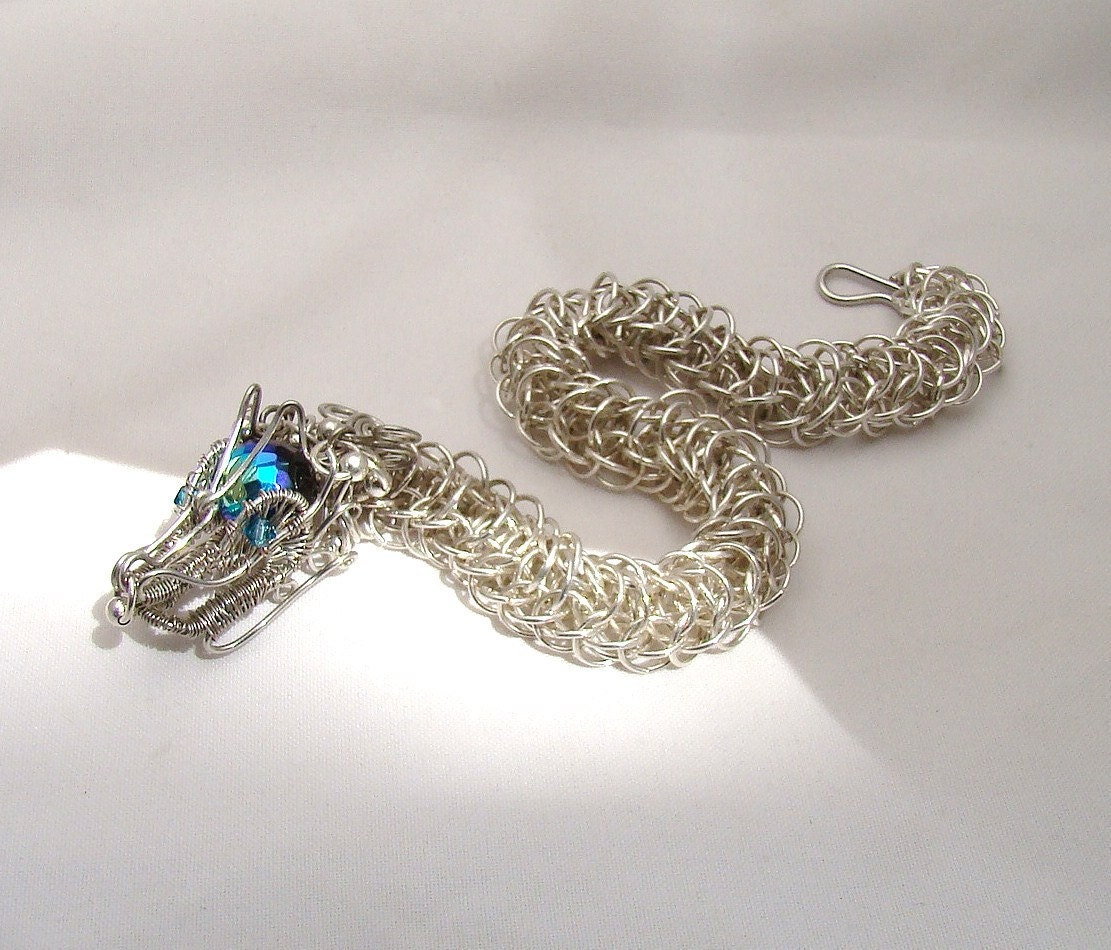 Make A Chain Mail Bracelet: Dragon Jewelry Chainmaille Bracelet