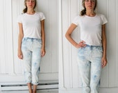 ON HOLD FOR STEF Vintage 80s Acid Wash Tie Dye Highwaist Jeans XS