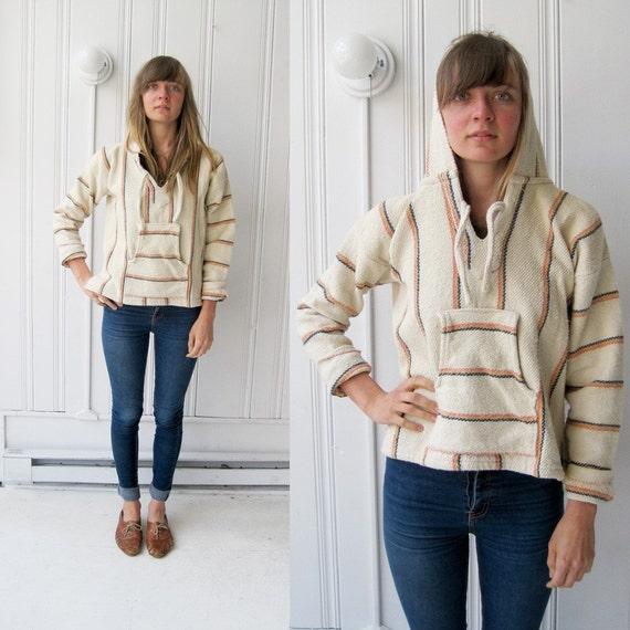 Cream and Stripe Baja Sweatshirt S