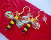 HORNET BEE WASP STiNG Yellow Jacket Earrings
