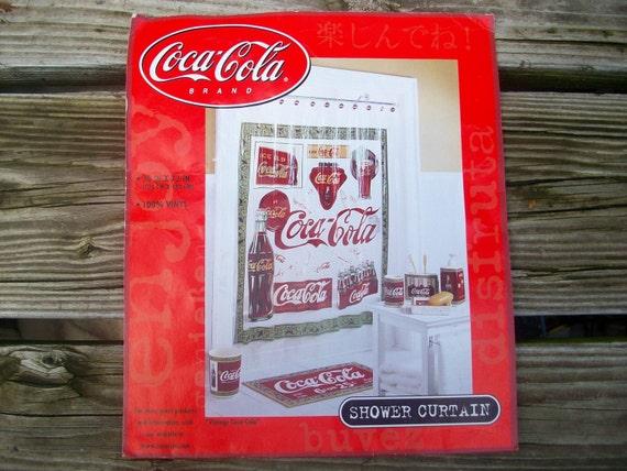 Curtains Ideas coca cola shower curtain : Coke Coca-Cola Vintage Shower Curtain