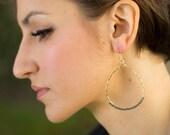 Hematite Teardrop Hoop Earrings