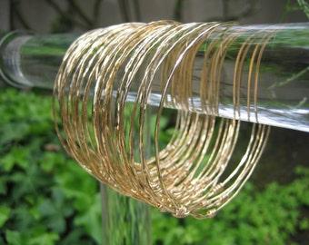 Set of 5 Bangles 14kt Gold Filled