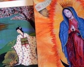 Our Lady Guadalupe  and Asian Note Cards Original Art prints - Set of (4)