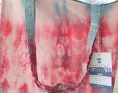 Cotton Candy-Hand dyed Organic Cotton Shopping Bag