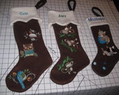 Custom Embroidered Chirstmas Stocking with Name