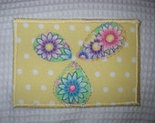 Sunshine and Flowers 2 - Fabric Postcard