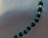 MIDNIGHT BLUE AND BLACK EVENING BRACELET