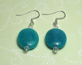 Candy Blue Jade Earrings