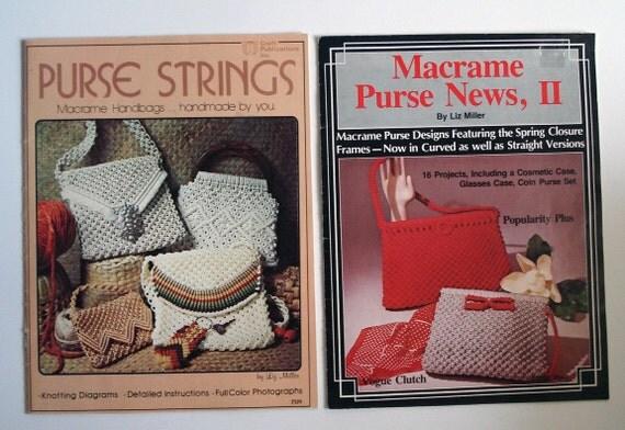 Set of 2 instruction books for making macrame purses