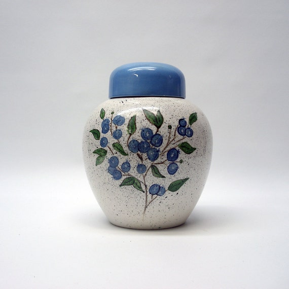 Reserved for C - Blueberry vase with lid