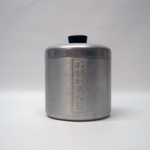 Vintage Grease Tin With Strainer