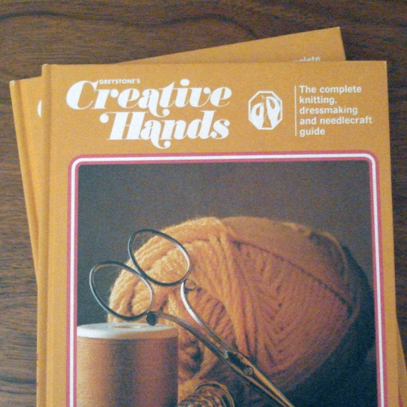 Greystones Creative Hands books, the complete knitting dressmaking and needlecraft guide, volumes 4 and 5
