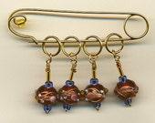 Stitch Marker Knitting Set Pin Holder Bumpy Glass Beads