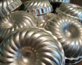 Set of 8 Vintage Metal Baking Molds