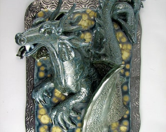 Blue Dragon wall decoration Made to order