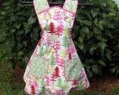 Christmas in July-Hostess Apron in Funky Christmas