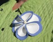 Winter Flower Pin/Brooch in Periwinkle