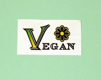 Vegan Temporary Tattoos 3 Pack, Flower, Power, Green, Yellow, Cow, Skull & Crossbones, Accessory, Fun, Festive,