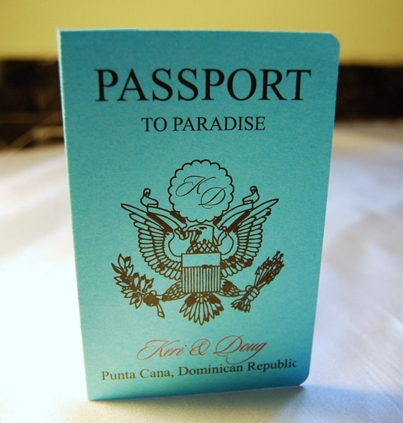 MINI Passport Invitations By Anaderoux On Etsy