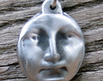 Moon Face Necklace - Double Sided