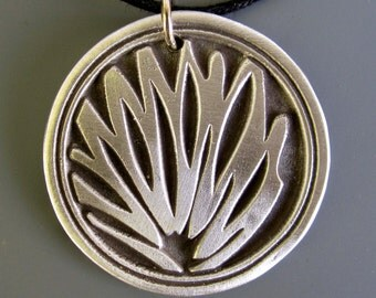 Palm Tree Design Pewter Necklace