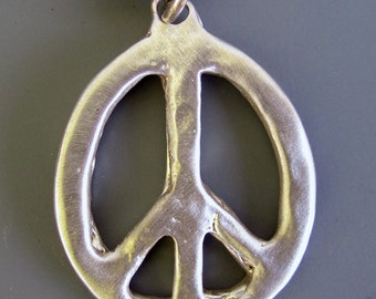 Peace Sign Pewter Necklace