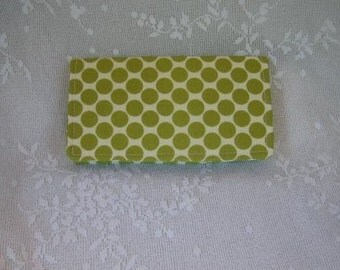 Amy Butler Lime Moon Dots Checkbook Cover