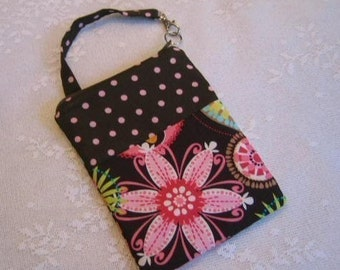 Gadget Case Pouch Ipod Cell Phone Camera CARNIVAL BLOOM Fabric