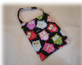 Gadget Case Pouch Ipod Cell Phone Camera Owl Fabric