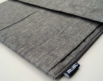 Laptop Case for 11inch MacBook Air and other UltraBooks. Padded Grey Linen