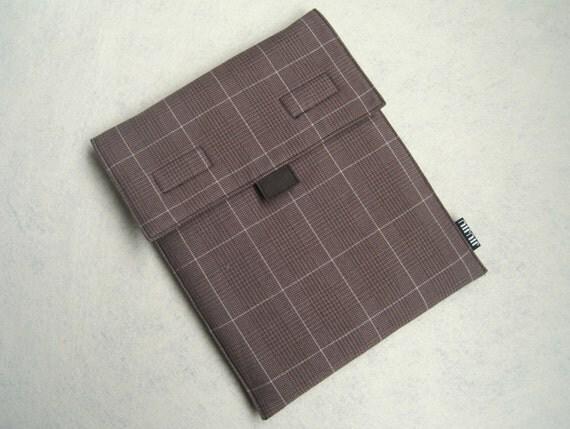 iPad Case/iPad2 Case/HP TouchPad Case/Padded/Cotton/Plaid