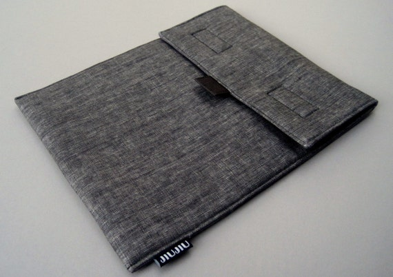 15inch Laptop Case, Laptop Sleeve, for 15inch MacBook Pro and other laptop models, Padded/Linen/Dark Gray.