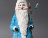 Father Christmas in Blue