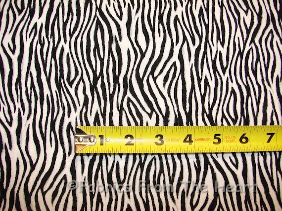 Zebra Animal Skin Print Black w Gray tones on White  BY YARDS  Cotton Fabric