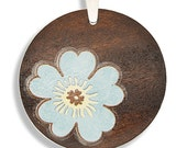 Kim- The Original Maple Wood Pendant w\/ FREE Leather Cord