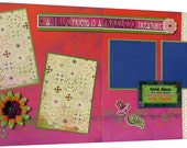 Scrapbook Pages Premade 12x12  Double Layout- Two Pages - A True Friend