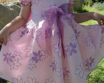 Twirl Dress- - Pink with purple sparkles  Size 3T