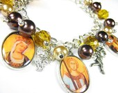 Victorian Tarot Cards photo charm bracelet - FREE SHIPPING