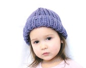 amethyst knit hat, super stretchy, fits toddlers, kids, teens, adults - all natural fibers, machine washable wool, ready to ship