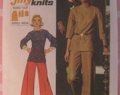 Vintage 1973 Knit Top and Wide Leg Pant Pattern